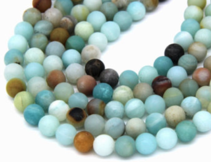 Amazonite   Chakra: heart. Soothing and calming. Good for the aura. Helps stress, nervousness, and a troubled mind.