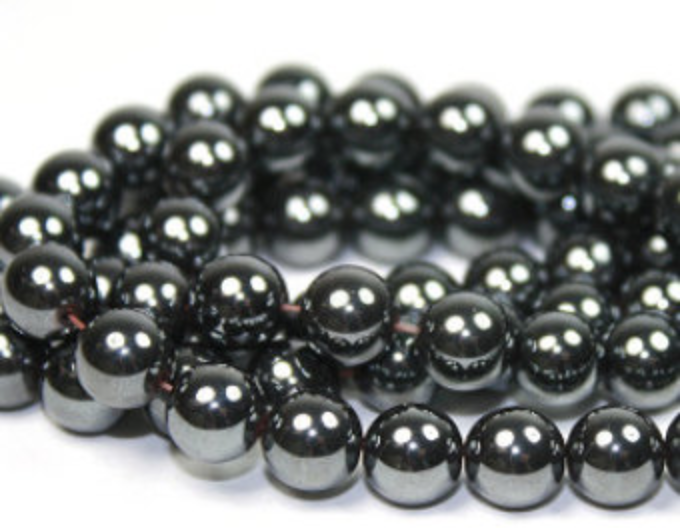 Hematite   Chakra: base.Brings strength, love, courage, and personal magnetism.Good for mental processes, thoughts, and memory.