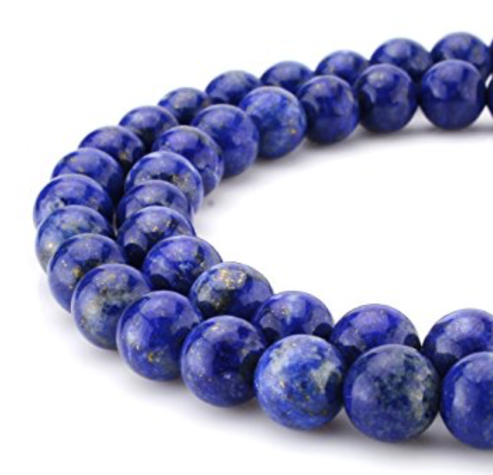 """Lapis Lazuli   Chakra: brow.A """"feel better"""" stone that brings vitality, wisdom, mental endurance.Helps with depression.Good for relaxation, relationships, dreams, yin/yang balance, and all psychic abilities."""