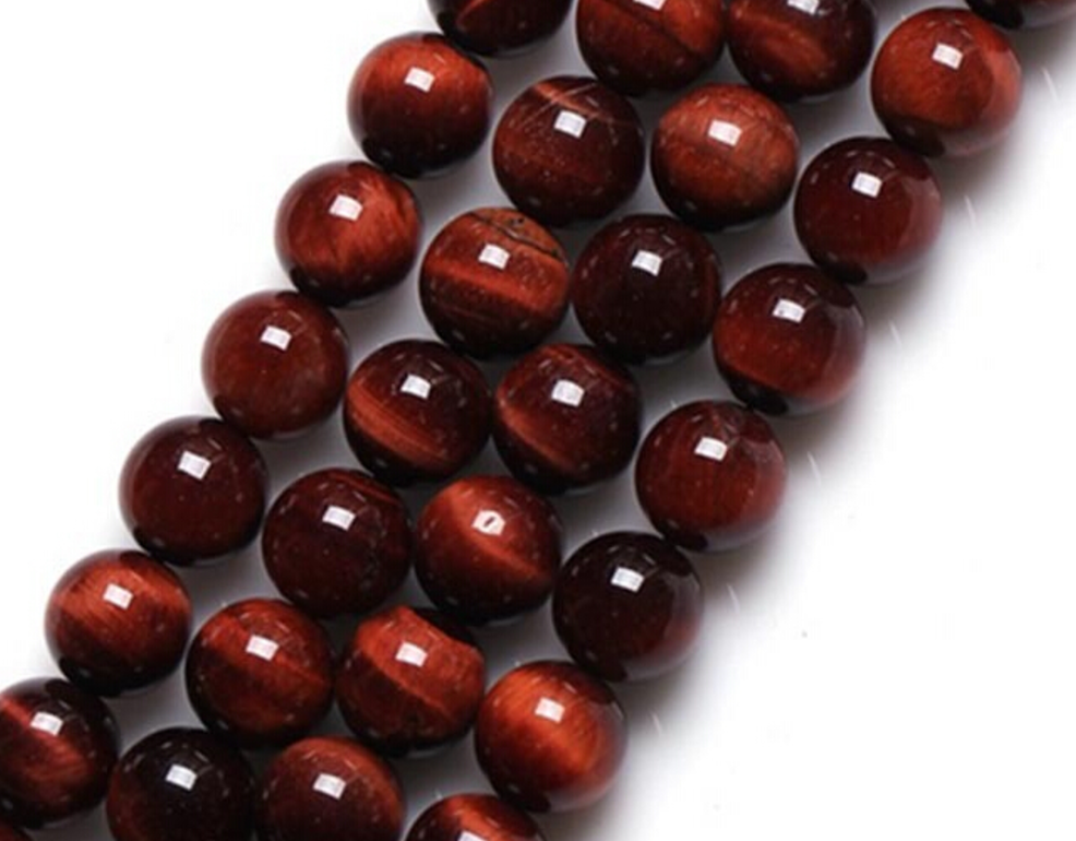 Red Tiger's Eye   Chakra: base. Encourages practicality. Good for emotional control.