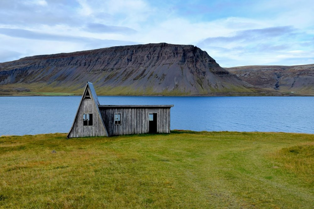 Random little sheep barn in the Westfjords
