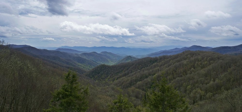An overlook in the Smoky Mountains