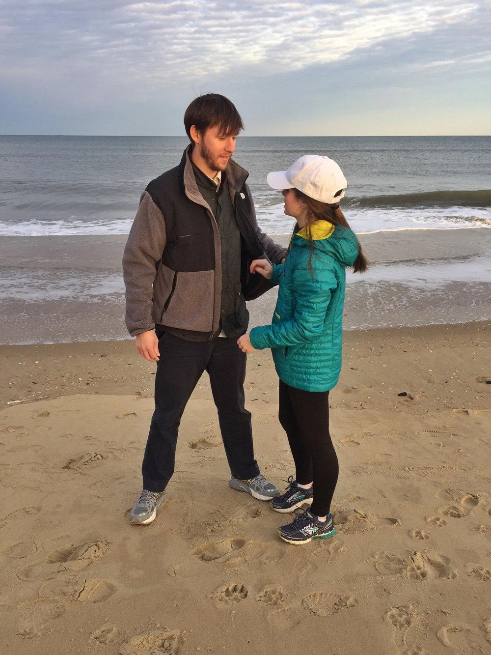Walk on the beach on NYE weekend