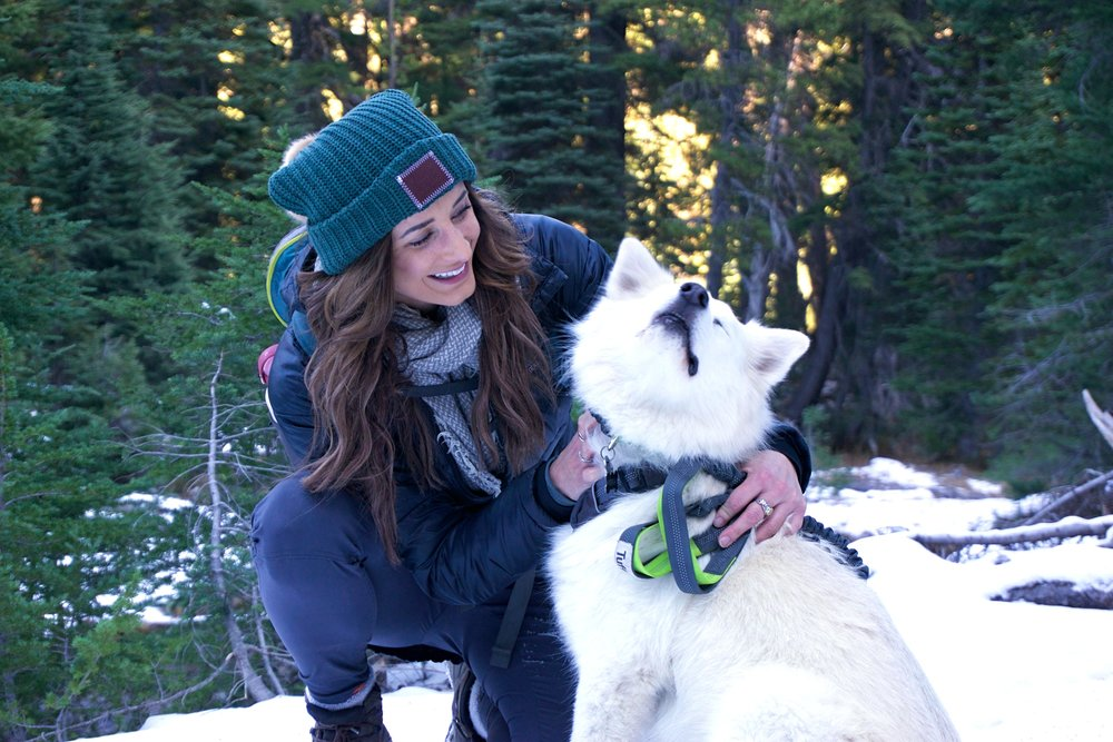 Emily and her pup.