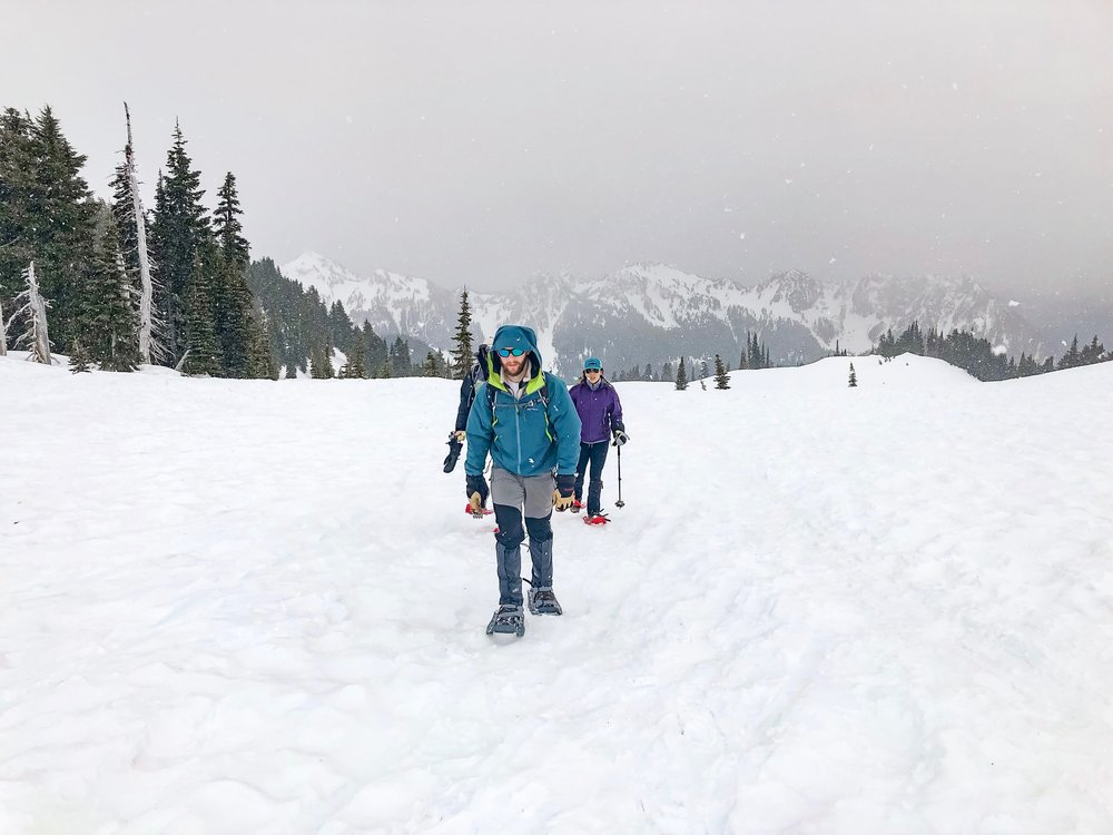 Snowshoe to Panorama Point, Mount Rainier National Park, Washington