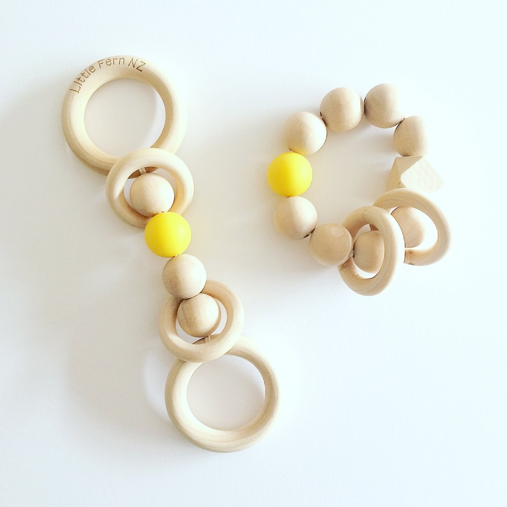Little Fern Combos - Why choose when you can have both? Get your favourite Teether and Rattle as a combo and save!