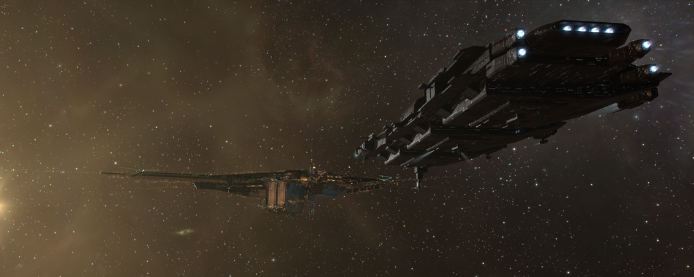 A PushX freighter arriving at the THNET HQ, HEDWAY Station.