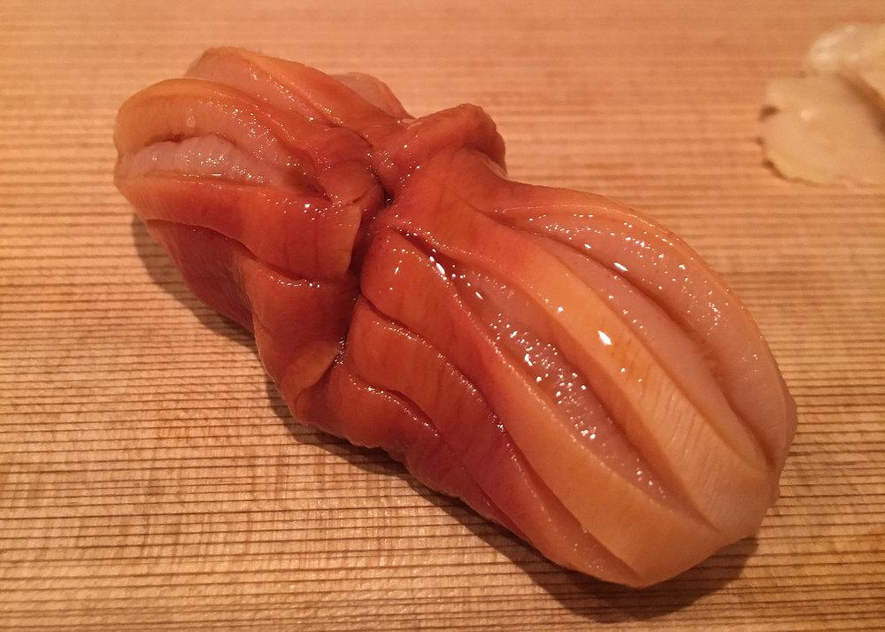 Akagai - in season and also wonderful.