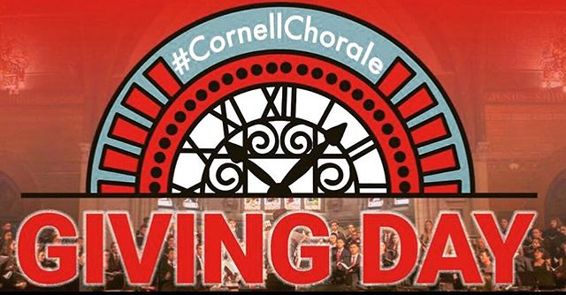"""Hello everyone! As you may know, tomorrow, March 14th, is Giving Day here at Cornell, where anyone can make a donation to any organization on campus. We're excited to announce that this year, the Chorale will be a participating organization! If you have enjoyed our music, please consider donating to the Chorale tomorrow! Every little bit helps!  To give, a donor must visit the following website:  https://givingday.cornell.edu/organizations/other-areas-at-cornell  Step 1: Choose an amount Step 2: In the comments section, write """"Cornell Chorale A808718"""" Step 3: Add donor info  Thank you for your generosity to help us grow! #CornellGivingDay #CornellChorale"""