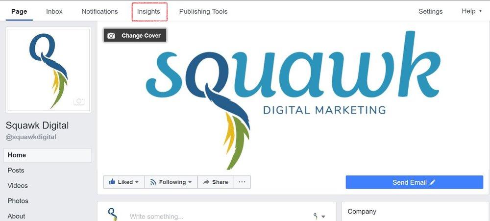 Location of Facebook insights