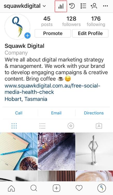 Location of Instagram insights