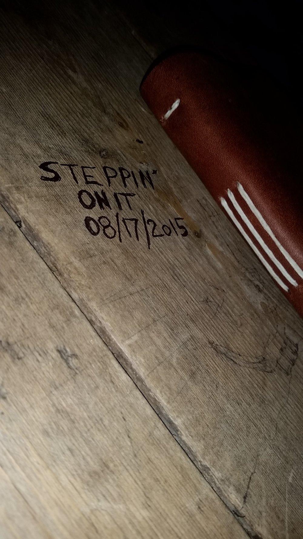 Steppin On It - Journal.jpg