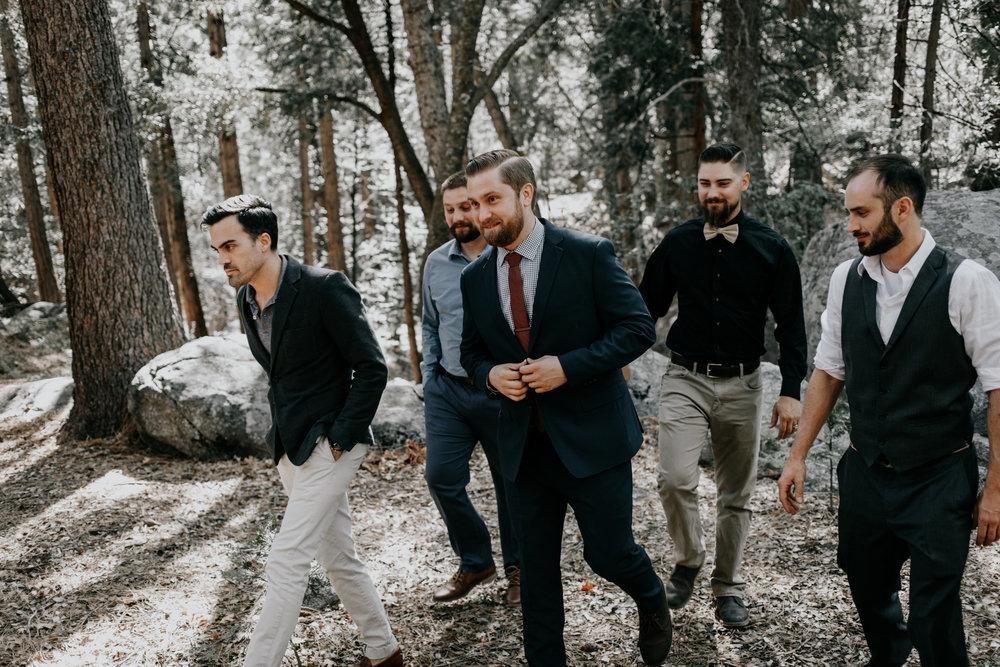 groomsmen | mountain wedding