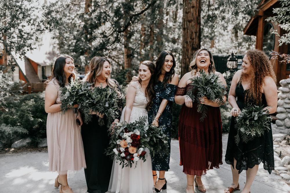 bridesmaids | mountain wedding