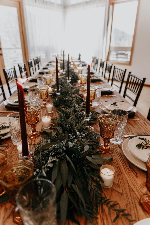 Cabin weddings | Rehearsal dinner