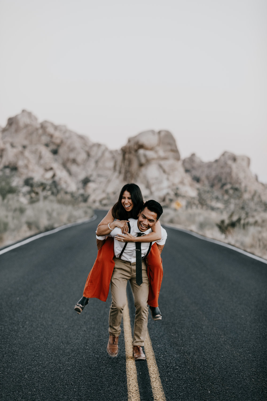 desert roads | engagement photos