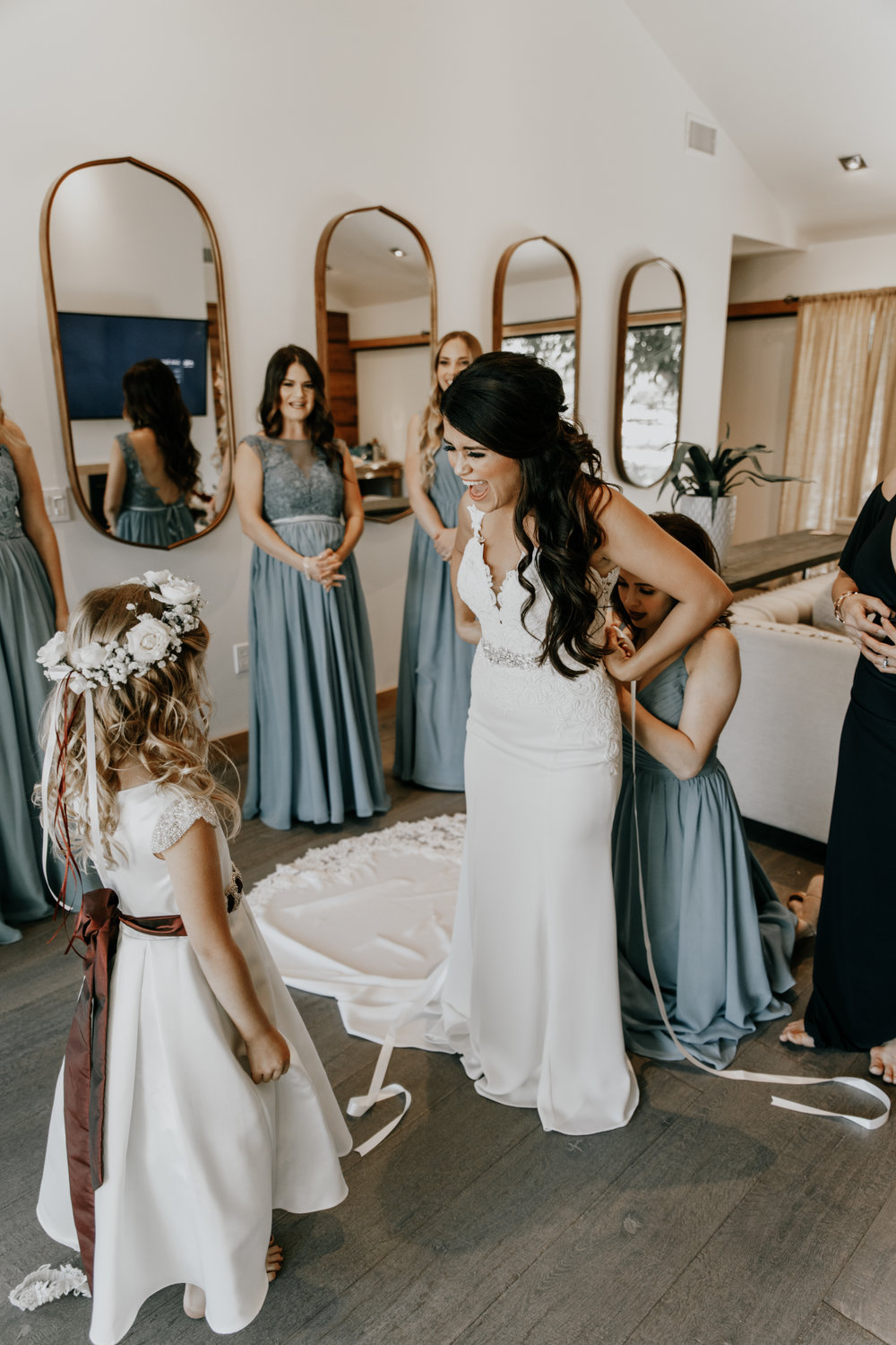 Bride and Flower girl - wedding photos