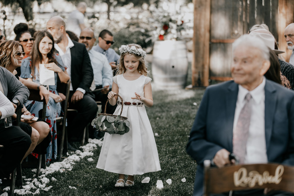 Flower girl | Murrieta wedding photographer