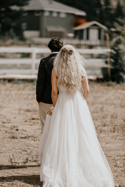 First looking wedding photos