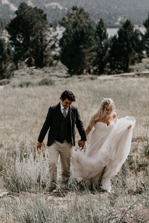 Big Bear wedding photos