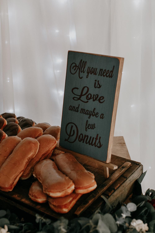 Donut bar for wedding