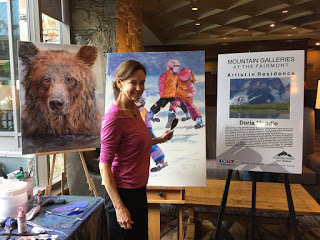 Artist in Residence representing Mountain Galleries