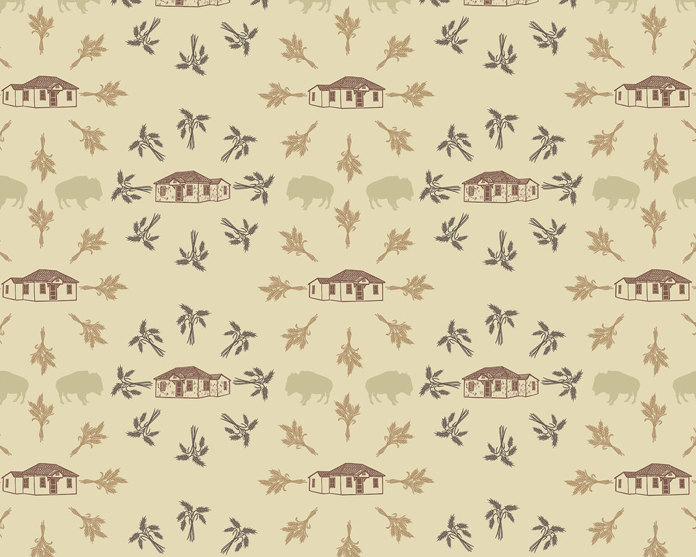 Wallpaper Pattern for McAlister, New Mexico (detail)