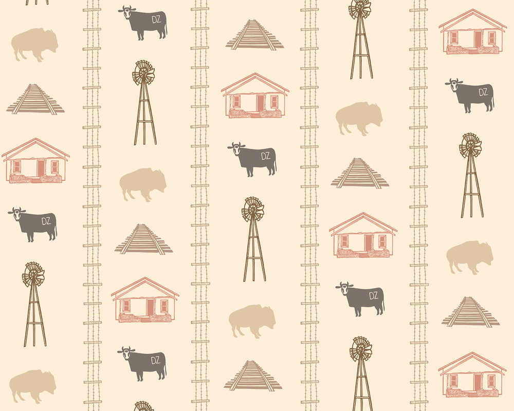 Wallpaper Pattern for Rogers, New Mexico (detail)