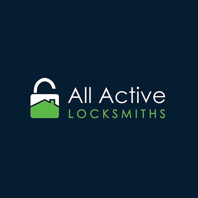 Logo for All Active Locksmiths 🔑🔒 #allactive #branding #logo #business #graphic #design #businesscards #graphicdesign #lock #locksmith #simple #shanicelovedesigns