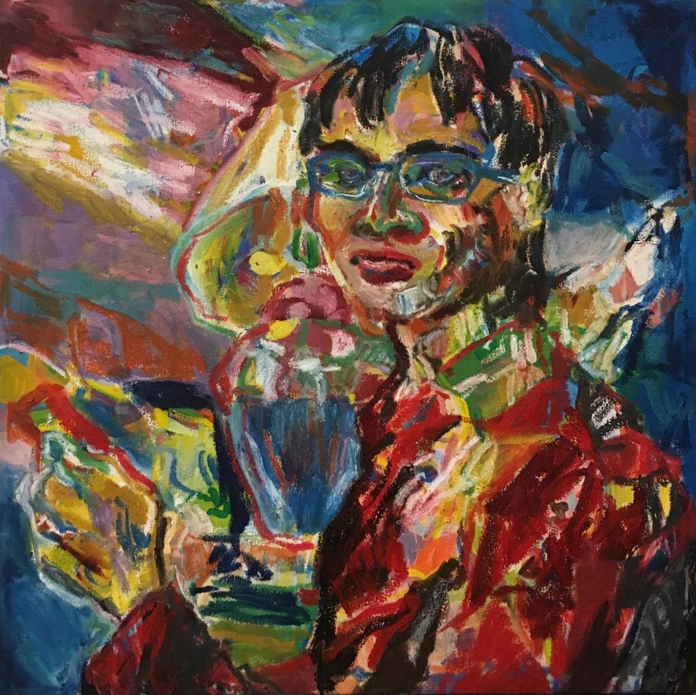 Jenna Bao_Looking Up_oil and oil stick on canvas_24x24.jpg