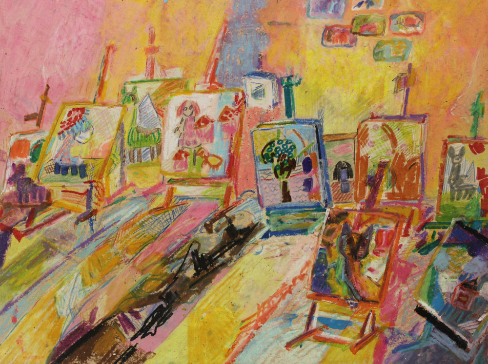 LRFairy Godmother's Easels_2018_mixed media_9x12in.jpg