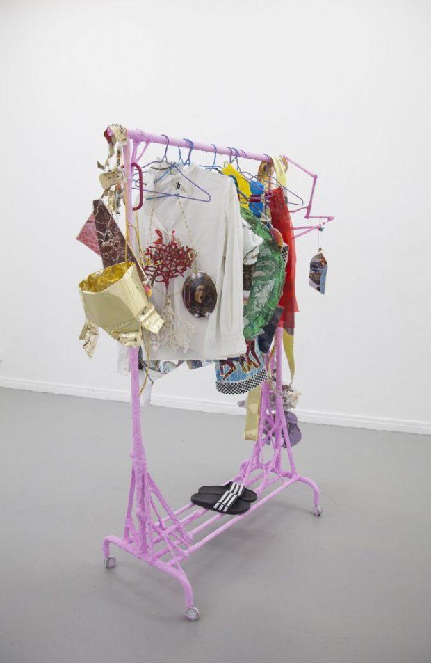 Clothes Rail, 2016, mixed media, by Sam Keogh
