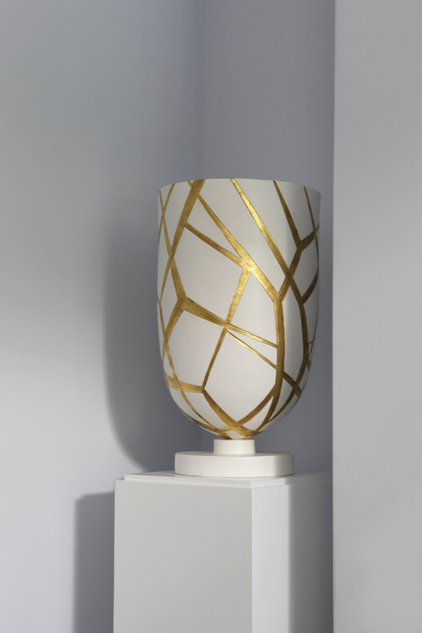 Urn designed by Mortell and made by Irish ceramicist Grainne Watts