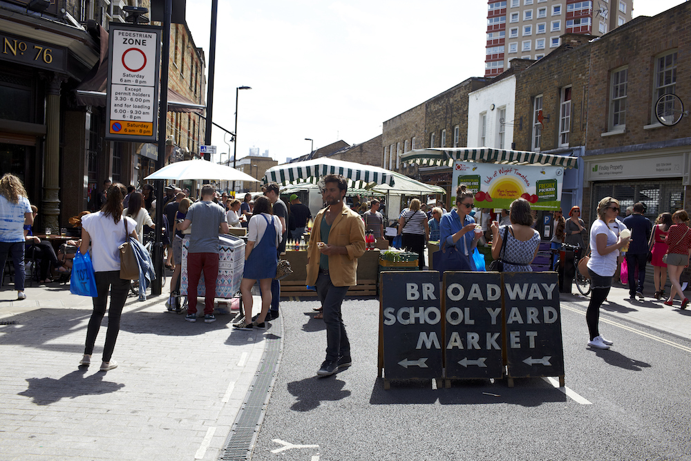Broadway market, shot by Steve Ryan.