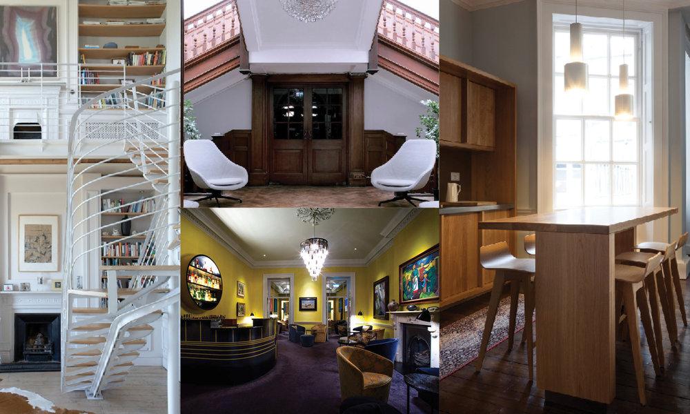 Clockwise from top left: Gillian Sherrard, Suzie McAdam, GKMP Architects, Laura Farrell