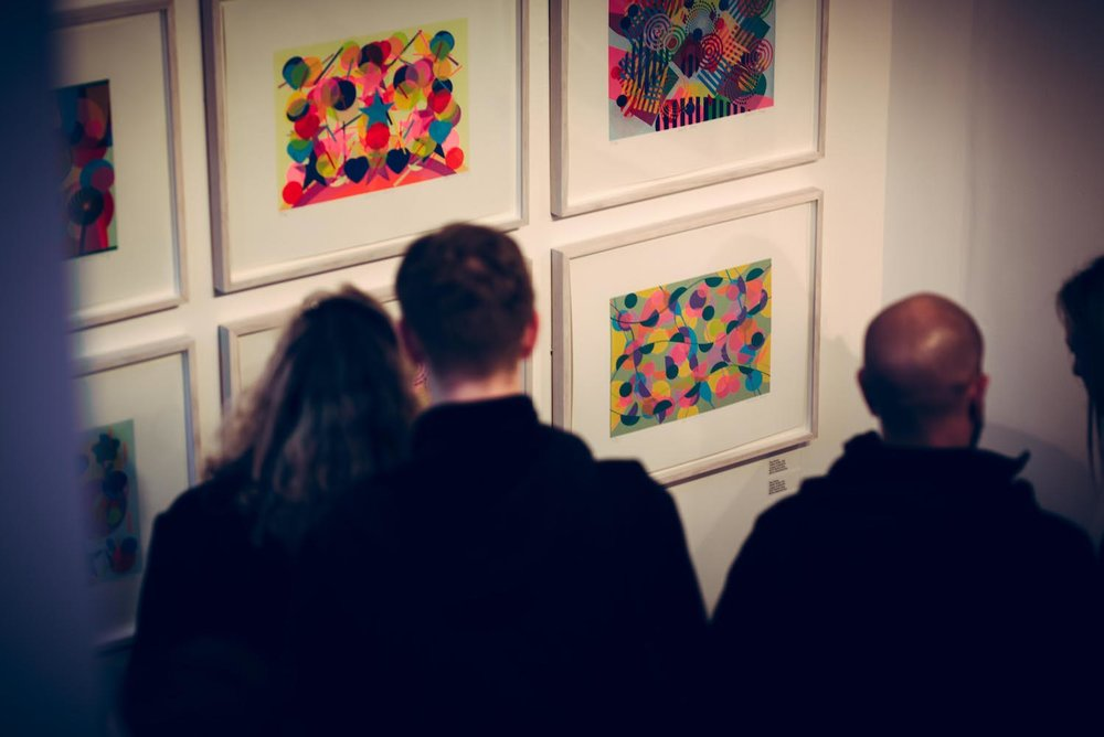 Taking in Graphic Studio Gallery's BOLD exhibition, which showcases artists who work with vibrant colours.