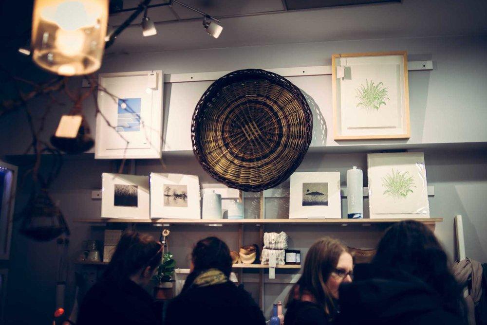 Irish craft on display at Irish Design Shop.