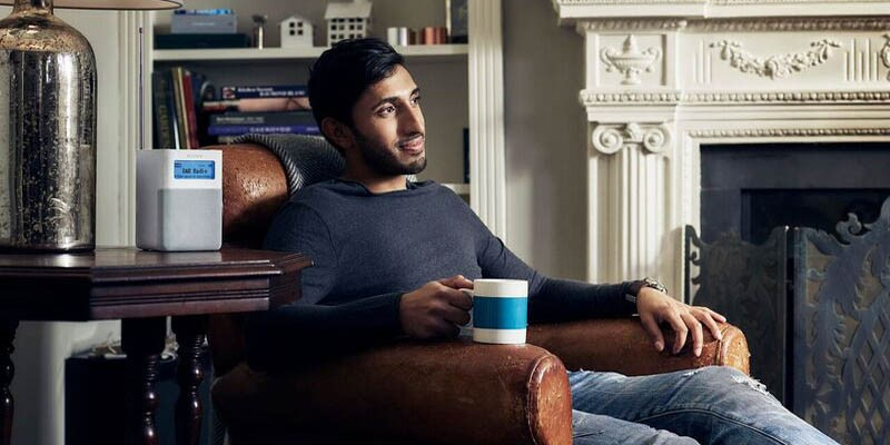 Look at this guy, trusting radio whilst drinking his tea and...staring...