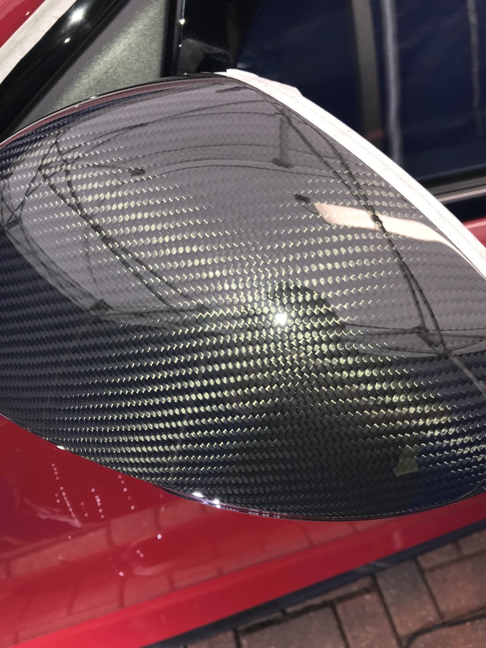 Correction of defects on carbonfiber after