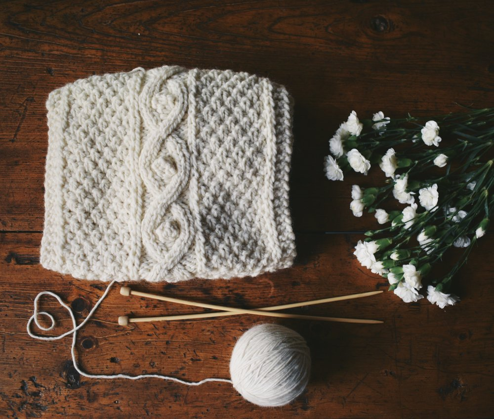 The Winter Stories Chunky Knitted Scarf Pattern — Kutova Kika