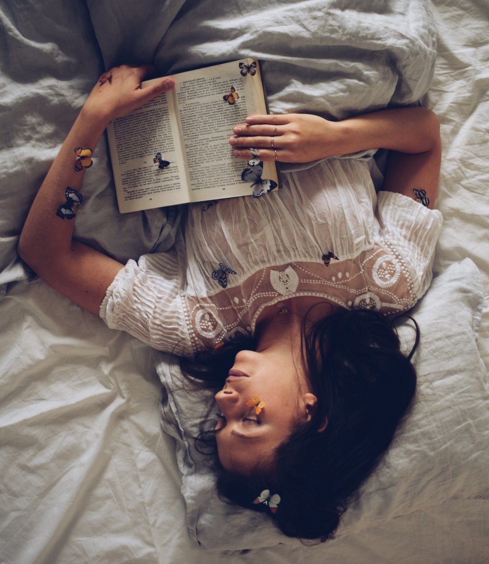 Sleeping with books and butterflies