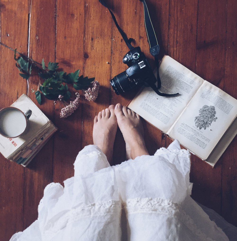 White dress and photography