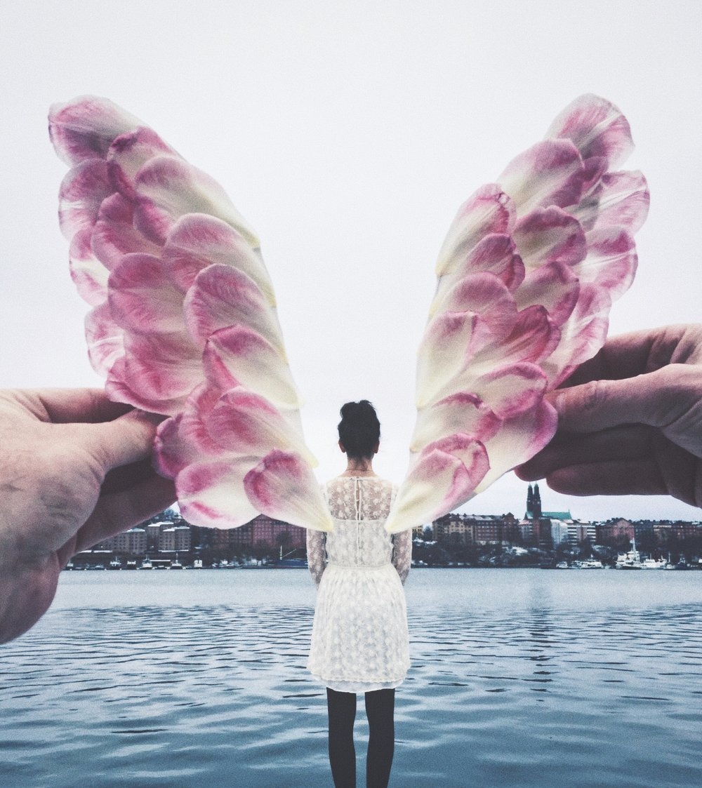 The Most Instagrammable Spots in Stockholm- flower wings