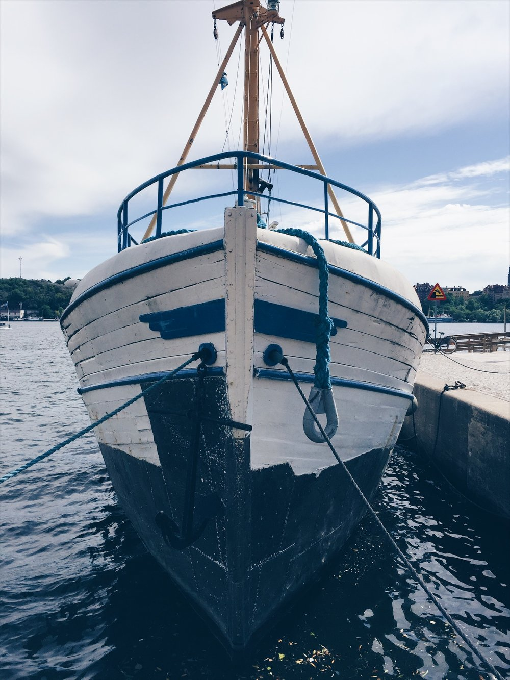 The most instagrammabel spots in Stockholm- a boat by Kungsholmen