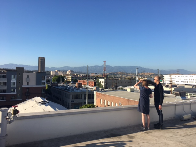 View from rooftop at Hauser & Wirth Los Angeles