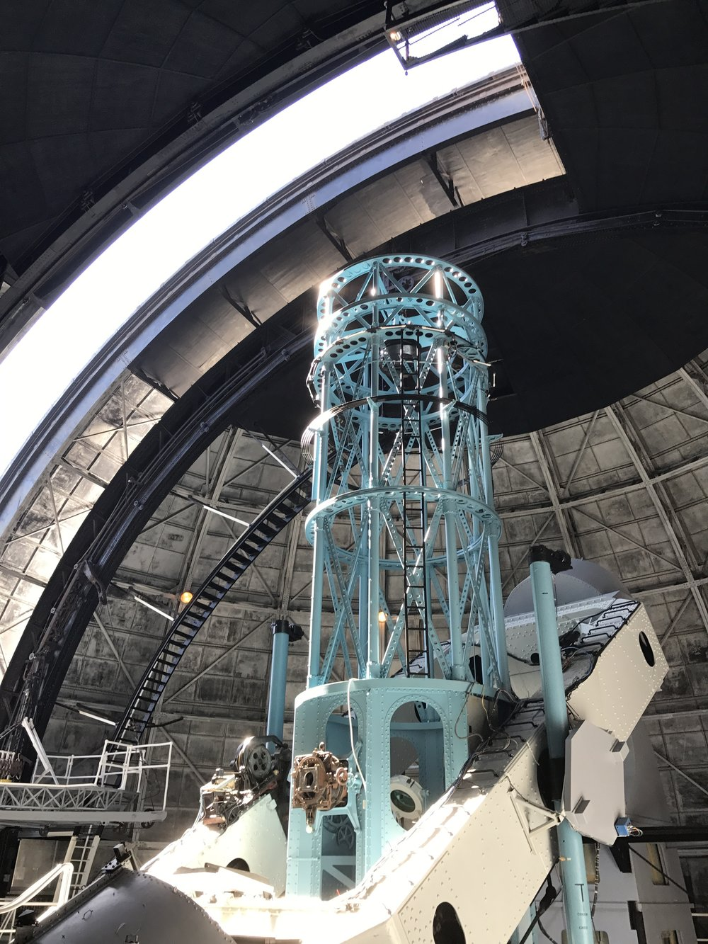 Inside the 100' Hooker telescope at MT Wilson Observatory for a live music and dance performance | Scott Benzel for 'Knowledges'