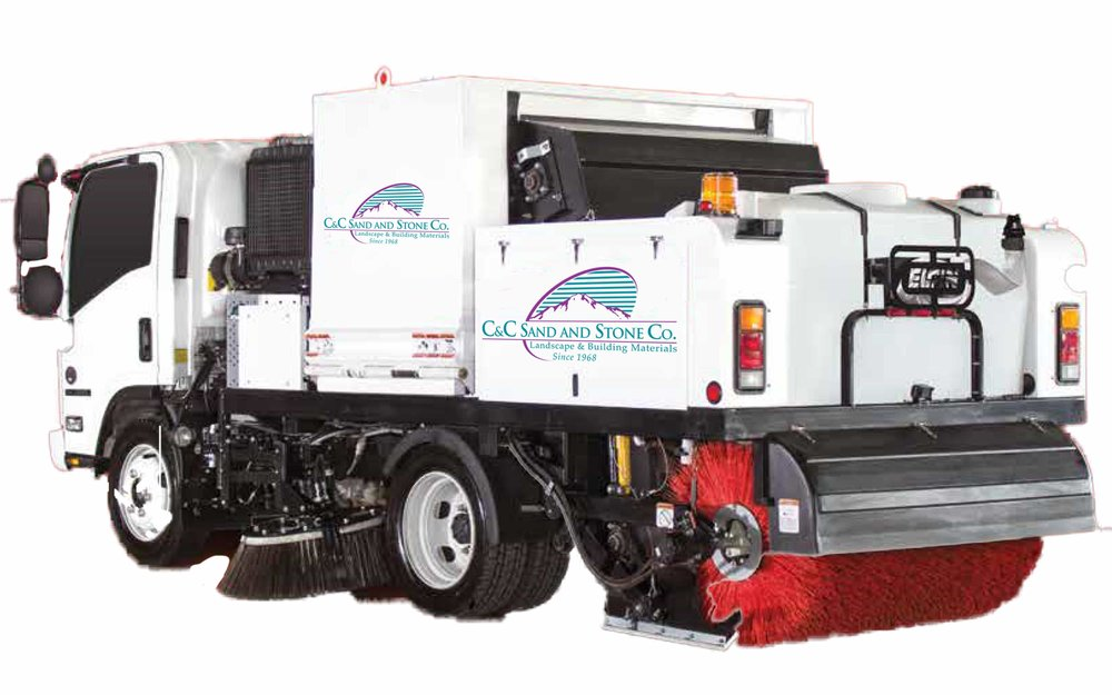 Commercial Sweeping - A compact dual-engine sweeper capable of handling uneven surfaces and large debris.