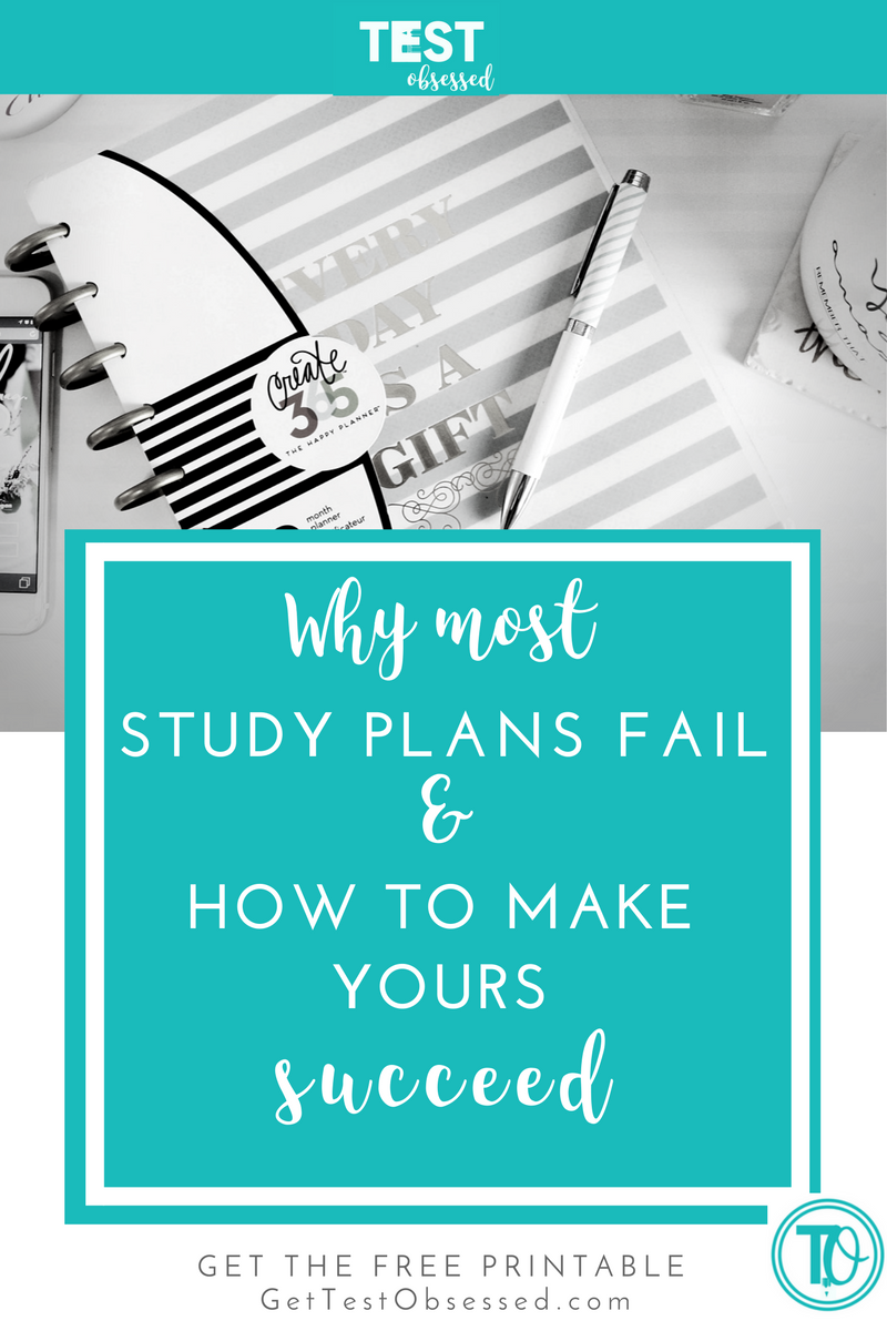 Test-taker Tuesday: Why Study Plans Fail — Test Obsessed| Language ...