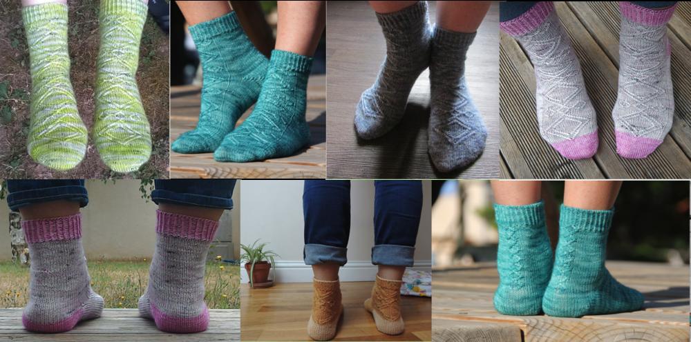 Mayia Socks de Sandrillon Knits
