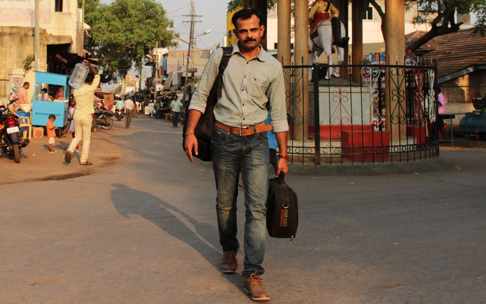 Jaganath SH, the Integra/i25 Rural Manager, heading home after a successful deployment in Hubali.